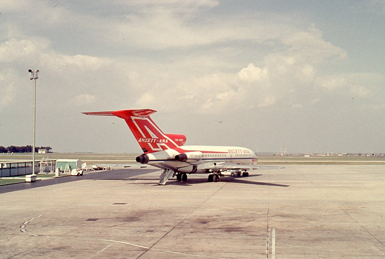 Click to expand. Photo supplied by Lindsay Walker of an Ansett-ANA B727-100 Jet Essendon Airport