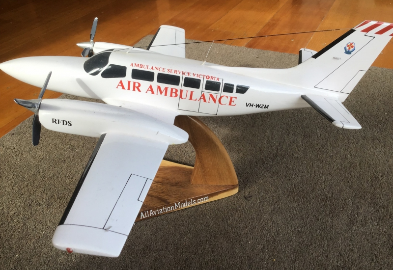 Click to expand. Photo supplied by Dennis Bentley of an RFDS VH-WZM mode he made himself.