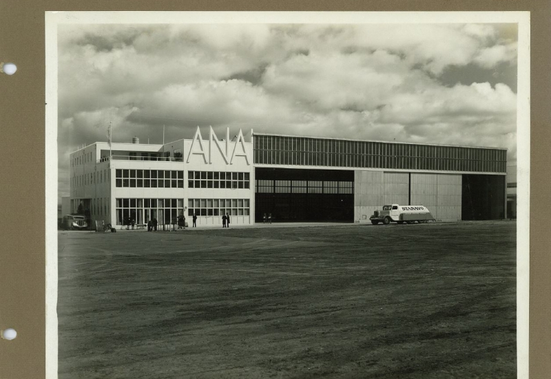 Click to view gallery of images. Photo supplied by CAHS of the ANA Terminal & Hangar