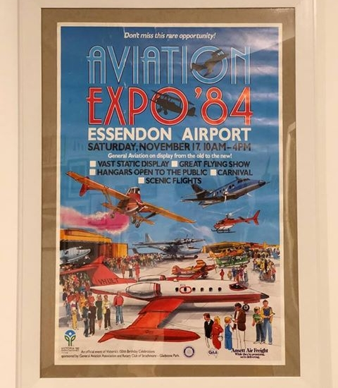 Click to enlarge. Photo supplied by David Soderstrom of the 1984 Airshow Advertising
