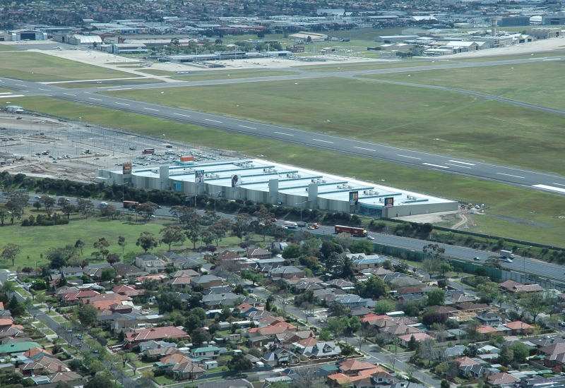 Click to view gallery of images. Photo of DFO Essendon & Homemaker Hub construction in 2005