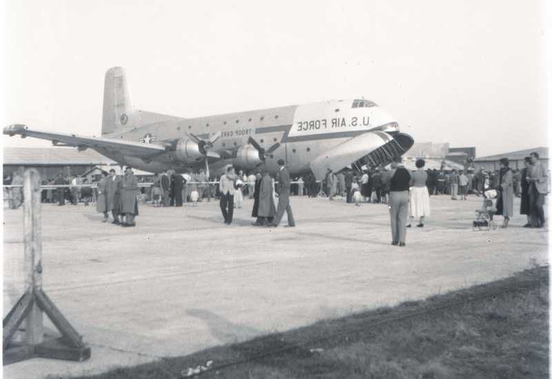 Click to view gallery of images. Photo supplied by Lynn O'Mara of a visit to Essendon Airport by the US Air Force
