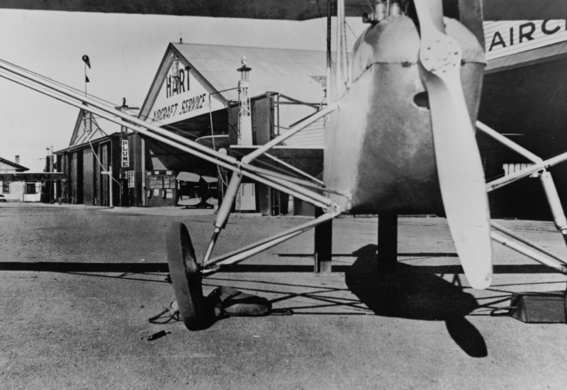 Click to enlarge. Photo supplied by CAHS of the Hart Hangar