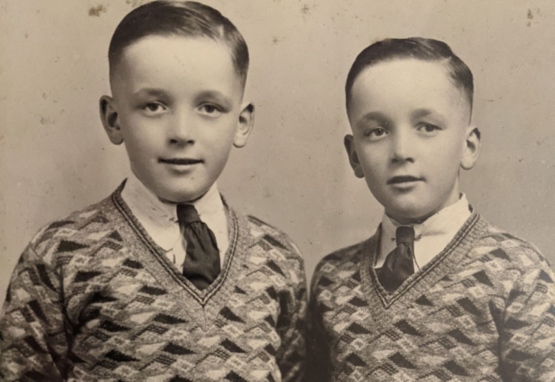 Click to view gallery of images. Photo supplied by Janet Bucknell of her father Walter and his brother Ivan