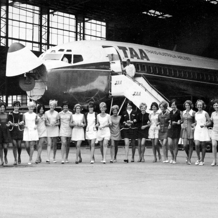 Story - The largest intake of TAA trainee air hostesses in history