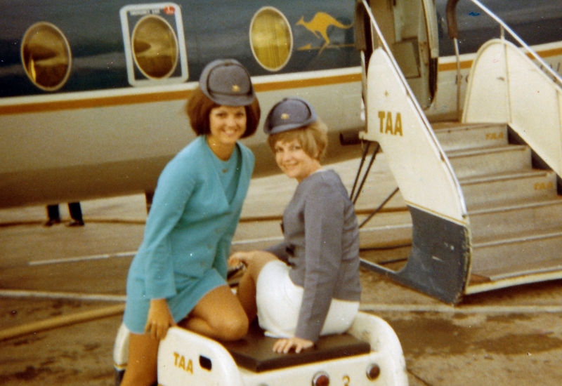 Click to view gallery of images. Photo supplied by Lorraine Nothling of life as a TAA air hostess
