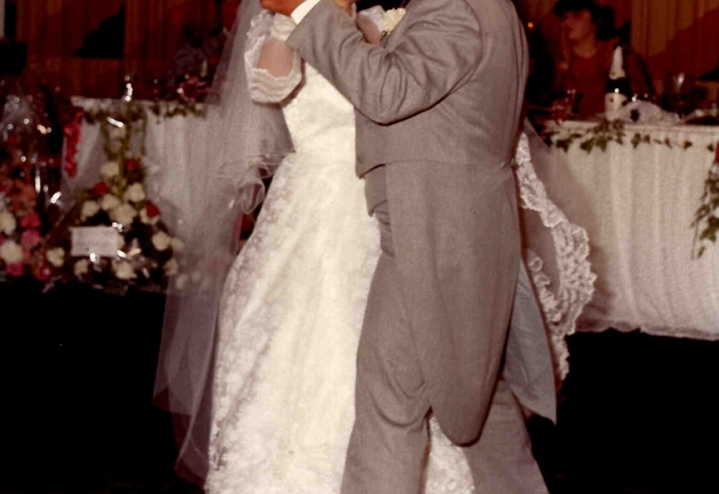 Click to view gallery of images. Photo supplied by Mary Currenti of her and her husband on their wedding day 1982