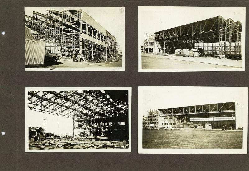 Click to view gallery of images. Photo supplied by CAHS of the ANA Terminal & Hangar in construction