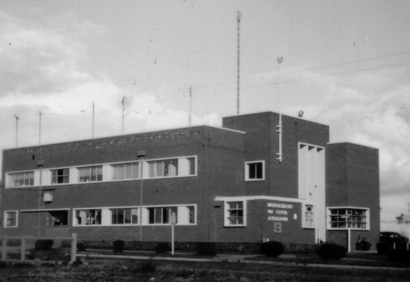 Click to view gallery of images. Photo supplied by CAHS of Building 40 in 1950