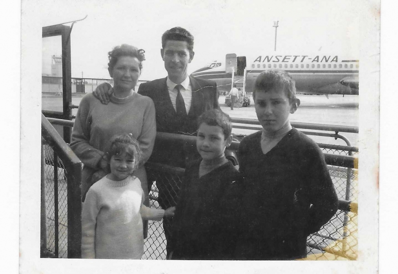 Click to expand. Photo supplied by Domenica Roperto of her family in 1970 on the day of her dad's first flight