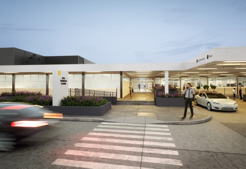 Click to enlarge. Render of Bell Business Centre at Essendon Fields
