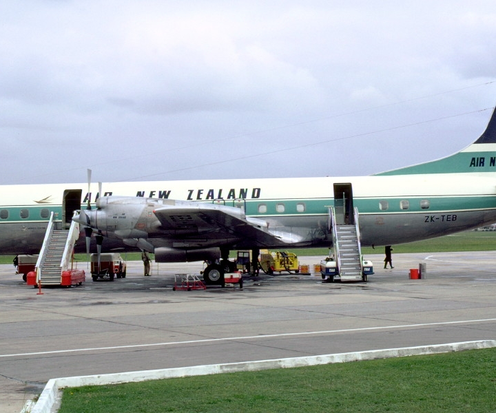 Story - Air New Zealand Electras Parked Next To The Playground