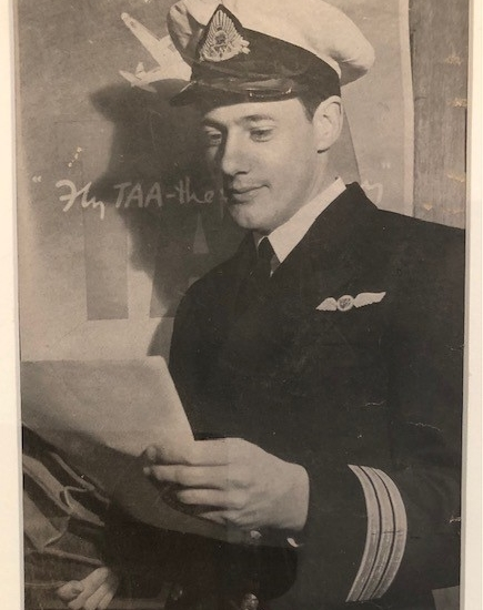 Click to enlarge. Photo supplied by Rosemary Dowling of her father Captain John Rainsford Groves